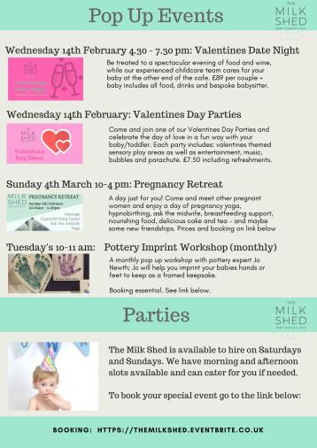 Pop Up events & parties